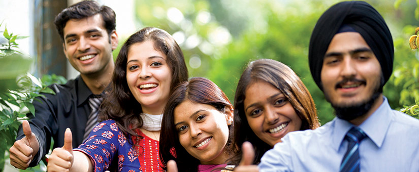 PGDM Students in a jubilant mood after campus placement