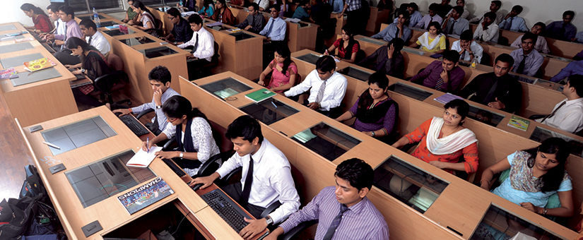 PGDM Students of BIMM work in the compter lab