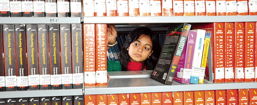 PGDM students at BIMM Library